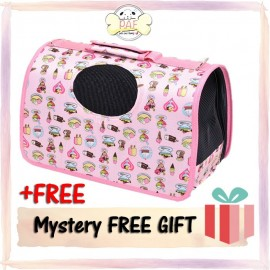 image of READY STOCK - Oxford Fordable High Quality Pet Bag (Pink Cake)