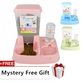 image of READY STOCK - Premium Japanese Style 2 In 1 Auto Pet Food Water Feeder