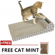 image of READY STOCK - Deluxe Large Cardboard Cat Scratching Scratcher With Jingle Balls
