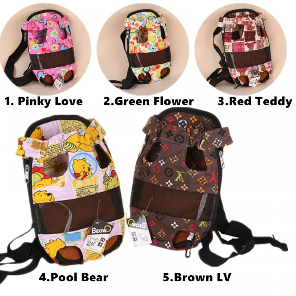 READY STOCK - Pet Comfort Front Chest Carrier Carry Bag