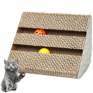 image of HOT SALES - Cats Kittens Triangle With Jingle Balls Scratcher Board