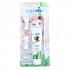 image of READY STOCK - Arquizoo Professional Pet Toothpaste Toothbrush Dental Set