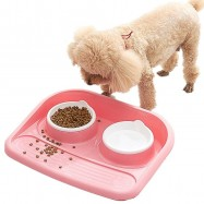 image of READY STOCK - Japanese OwhPet Anti-Split Double Side Food And Water Pet Feeder