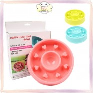 image of HAPPY HUNTING Pet Slow Speed Feed Bowl (Pink/Blue/Green)
