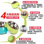 READY STOCK - Japanese Stainless Steel Pet Food Bowl
