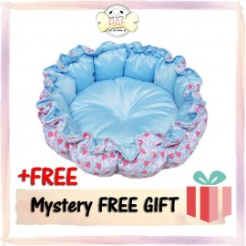 image of READY STOCK - Premium Comfy and Soft Pumpkin Bed 55x50x17CM (Blue)