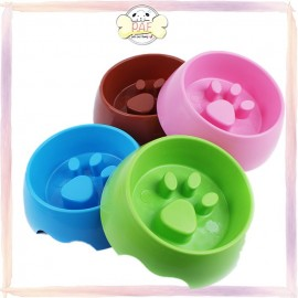 image of READY STOCK - Pet Dog Cat Slow Eating Feeder Bowl Puppy Plastic Feeding