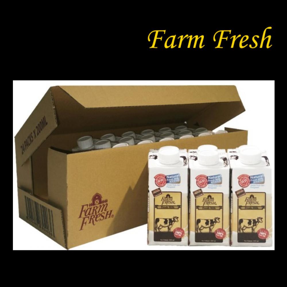 FARM FRESH 24*200ML MILK PLAIN