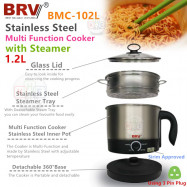 image of BRV 1.2L Stainless Steel Multi-Function with Steamer