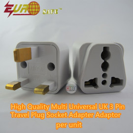 image of Eurosafe High-Quality Universal 3-Pin Travel Adapter
