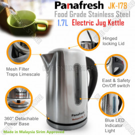 image of Panafresh Stainless Steel 1.7L Electric Jug 2000W
