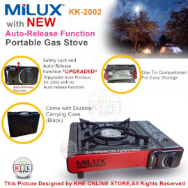 image of Milux Portable Gas Stove with Auto-Release Function