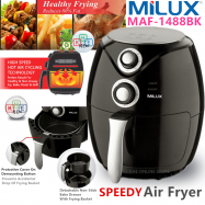image of Milux Speedy Air Fryer 2.6 Litre 1400W MAF-1488BK Black