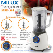 image of Milux Hyper-Blade Blender 1.7L with 6 Blade