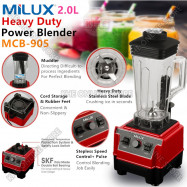 image of Milux Heavy-Duty Commercial Nutrition Power Blender 2L