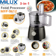 image of Milux 3in1 Multi-Function Food Processor 500W