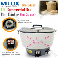 image of Milux Commercial Gas Rice Cooker 10L