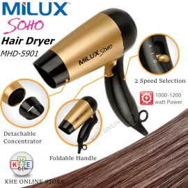 image of Milux Soho Foldable Traveling Hair Dyer 1200W