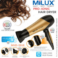 image of Milux Pro-Ionic Hair Dryer 2200W