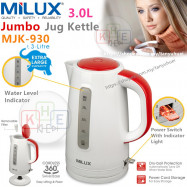 image of Milux 3L Flat Heating Element Kettle