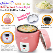image of V-TEX 1L Portable Digital Multi-Function Non-Stick Mini Rice Cooker