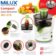 image of Milux Compact Juicer Extractor