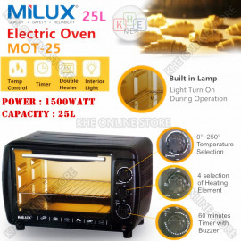 image of Milux 1500W Electric Oven