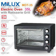 image of MIlux 35L Electric Oven with Rotisserie Grill