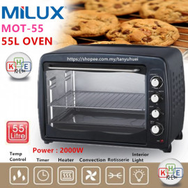 image of Milux Electronic Oven with Grill 55L