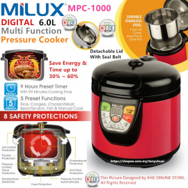 image of Milux Digital Multi-FUnction Pressure Cooker 6L
