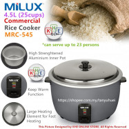 image of Milux 25 Cups 4.5L Commercial Electric Rice Cooker