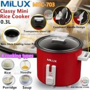 image of Milux 0.3L Mini Rice Cooker MRC-703