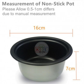 image of Milux Rice Cooker Non-Stick Inner Pot