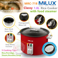 image of Milux 1.8L Classy Multi-Cook Food Steamer Rice Cooker