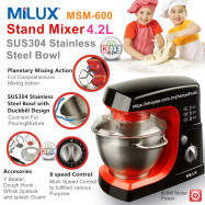 image of Milux Heavy Duty Stand Mixer 4.2L