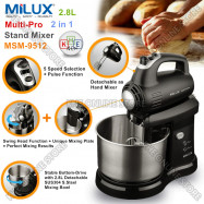 image of Milux 2in1 Multi-Pro 2.8L Stand Mixer