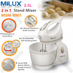 Milux 2in1 Stand Mixer 2.5L Self-Rotating Bowl