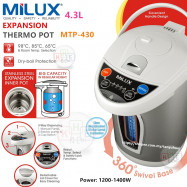 image of Milux 4.3L Expansion Thermo Pot with 4 Temperatures Selection