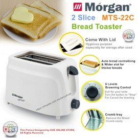 image of Morgan 2 Slice Bread Toaster MTS-22