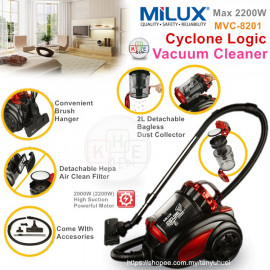 image of Milux Powerful Cyclonic Logic Vacuum Cleaner 2200W