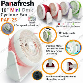 "image of Panafresh 10"" Baby Mini-Desk Cyclone Fan 23W"
