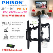 """image of Phison High-Quality 26""""-56"""" Tilted-Wall Mount TV Bracket"""