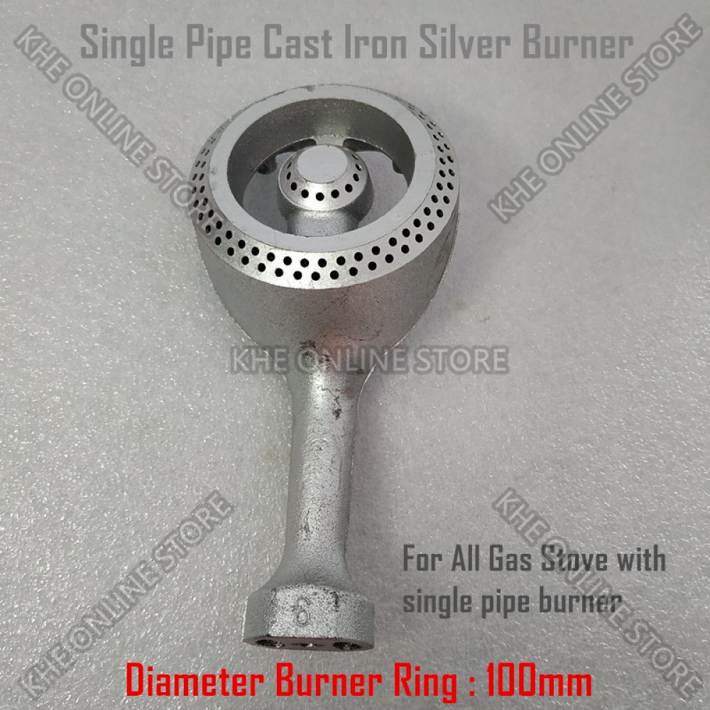 Single Pipe Cast Iron Gas Stove 100mm Burner