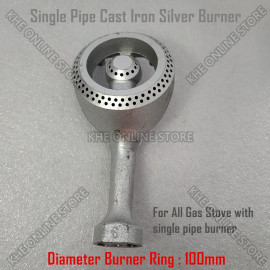 image of Single Pipe Cast Iron Gas Stove 100mm Burner