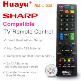 image of Huayu TV Replacement Remote Control for Sharp
