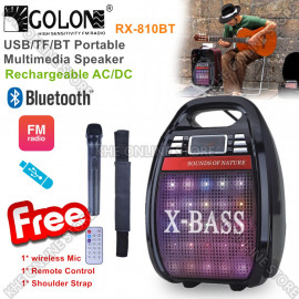 image of Golon Rechargeable Multimedia Portable Bluetooth USB Speaker
