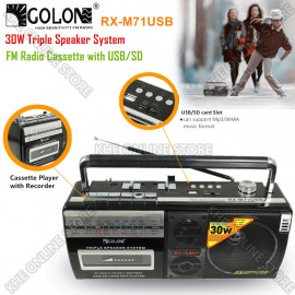 image of Golon FM Radio Casette with USB & SD Card Slot
