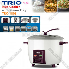 image of Trio 1.8L Rice Cooker with Aluminum Steamer Tray