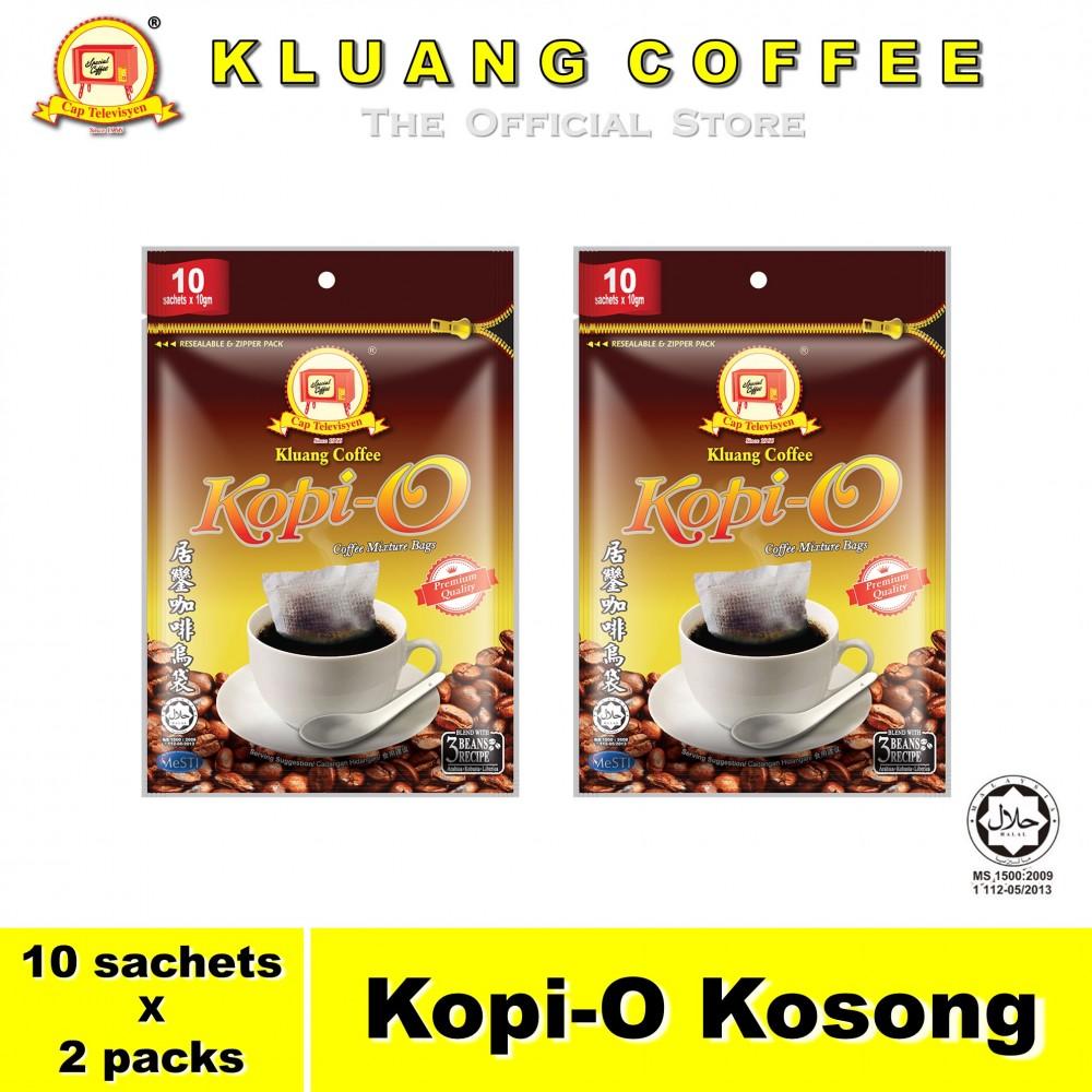 Kluang Black Coffee Kopi-O【10 sachets x 2 packs】CAP TELEVISYEN