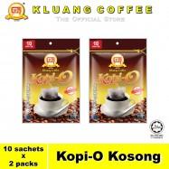 image of Kluang Black Coffee Kopi-O【10 sachets x 2 packs】CAP TELEVISYEN